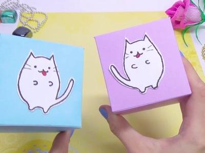 DIY paper crafts idea. DIY kawaii cat - easy paper toys. DIY projects ideas. Julia DIY
