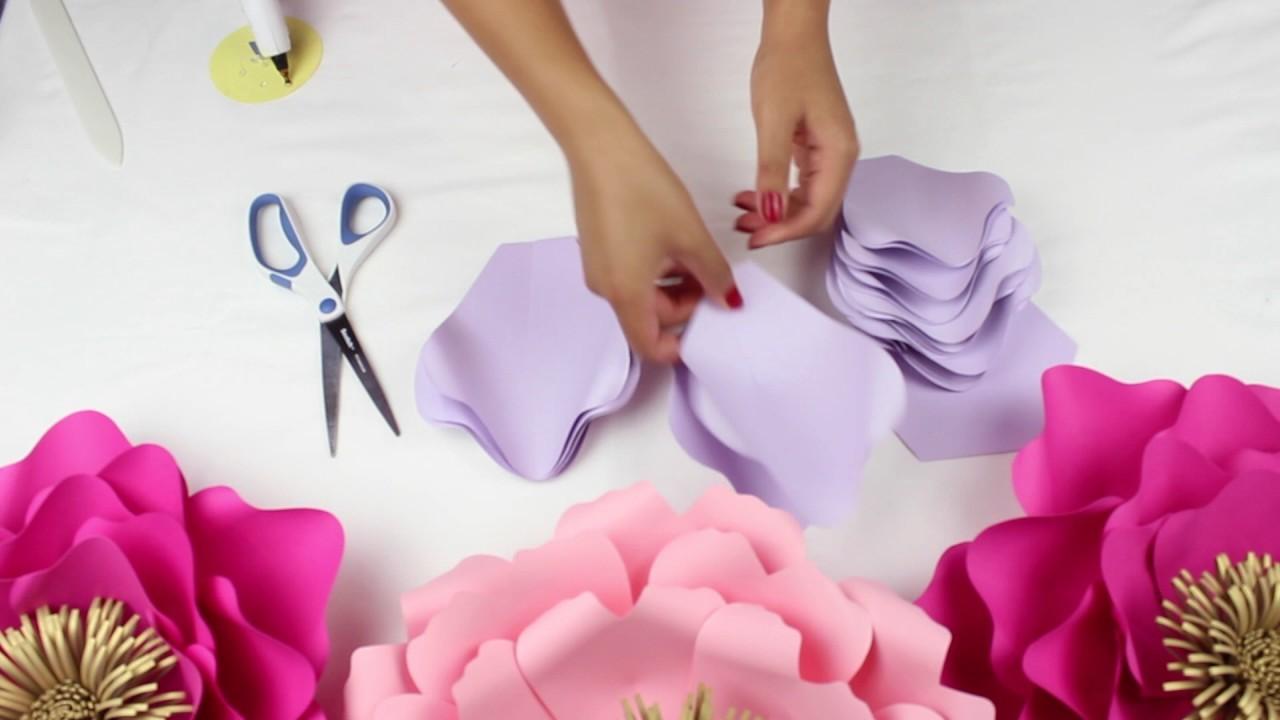 diy paper flower backdrop  spring colors  template  13 full video