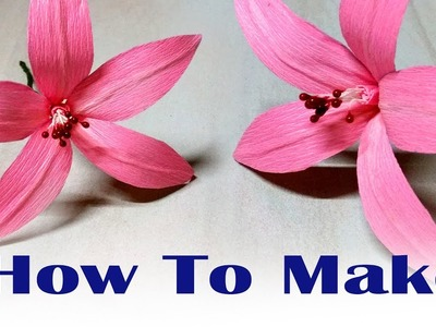 Diy paper flowers crafts. How to make paper flowers.  Ganesh festival decoration crafts
