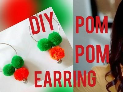 DIY POM POM EARRINGS || EASY AND QUICKY DIY POM POM EARRINGS AT HOME
