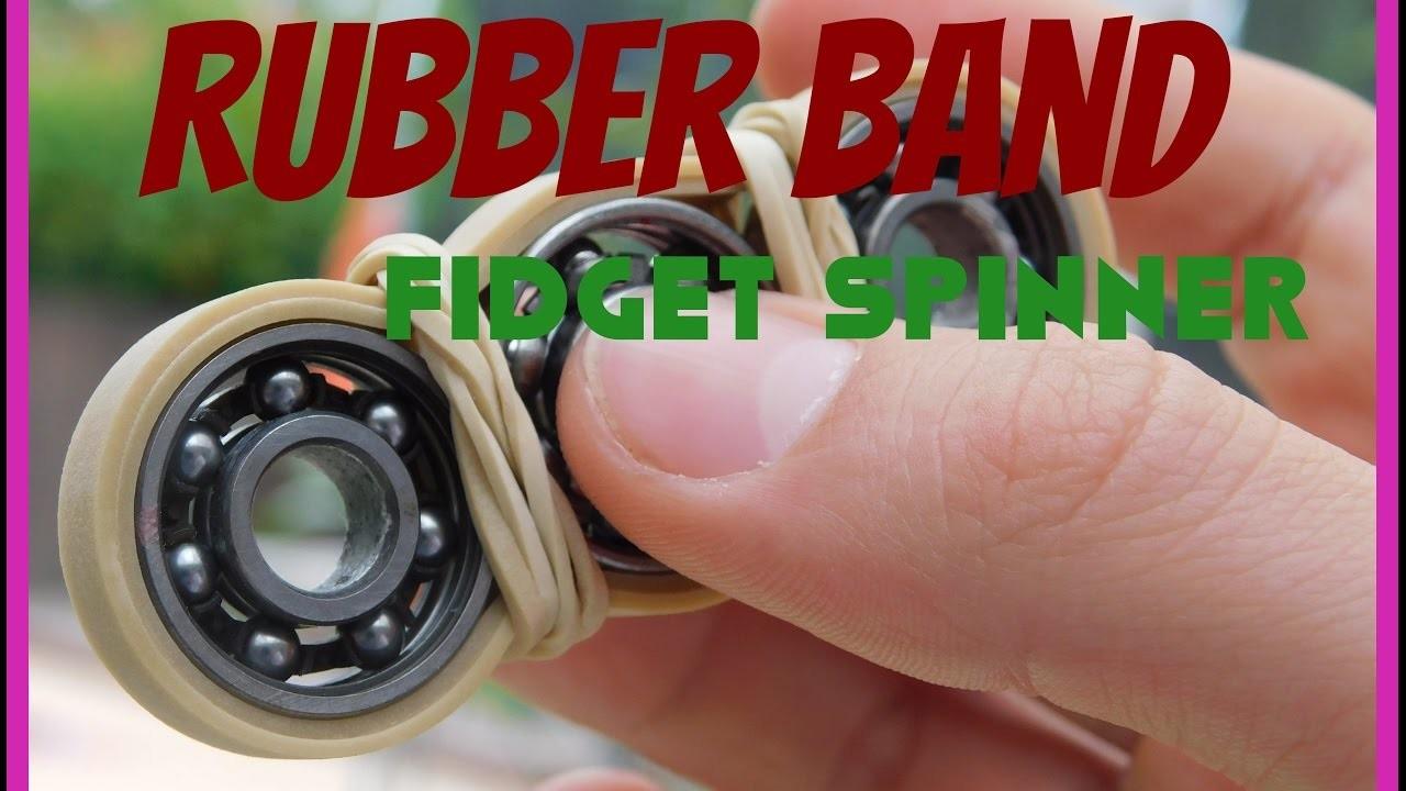 Diy Rubber Band Fidget Spinner Easy