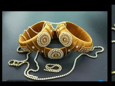 DIY  Silk thread GOLDEN Design Bangles  A&S fashion zone