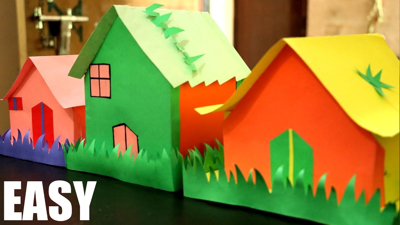 Easy Paper House | How To Make Paper House | Integrators
