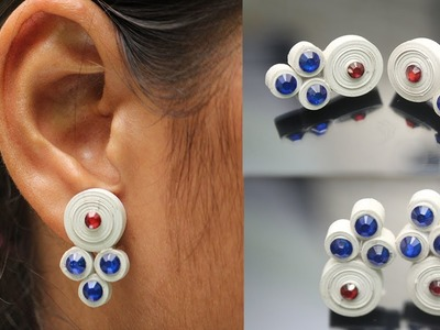 Easy Way To Make Earrings With Quilling Paper | DIY | Refashion Clothes - DIY Crafts