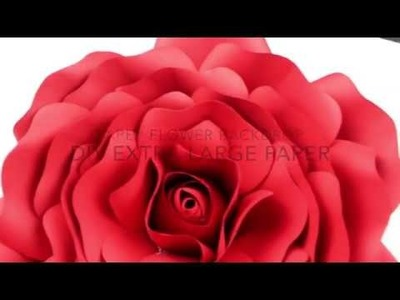 Extra Large Rose Template | DIY Paper Flower Backdrop for Wedding.Events