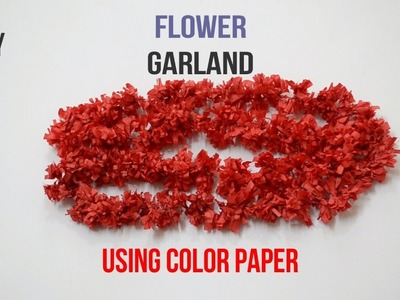 How to make a garland using color paper tutorials || Creative Indian Arts || #28