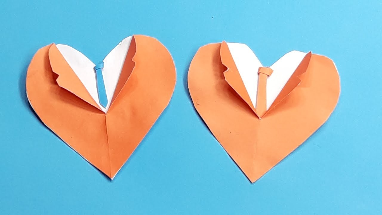 how to make a paper heart for father�s day origami heart