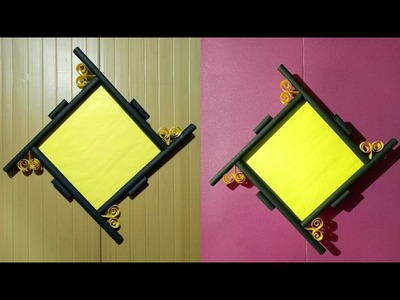 How To Make a Paper Photo Frame | Photo Frame Tutorial.