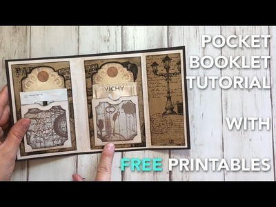 How to make a Pocket Booklet - TUTORIAL + FREE printables