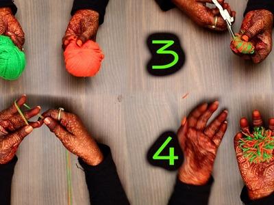 How To Make A Pom-pom Using By Hands | DIY | Refashion Clothes - DIY Crafts