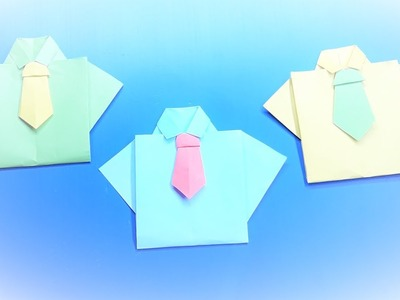 How To Make An Easy Paper Origami T Shirt – Origami T Shirt Craft making tutorial for Fathers Day