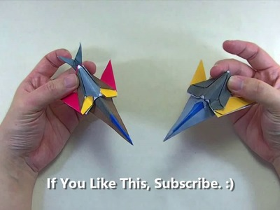 How to make an Origami Transformer Spaceship