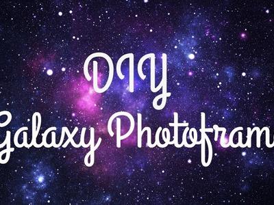 HOW TO MAKE DIY GALAXY PHOTO FRAME
