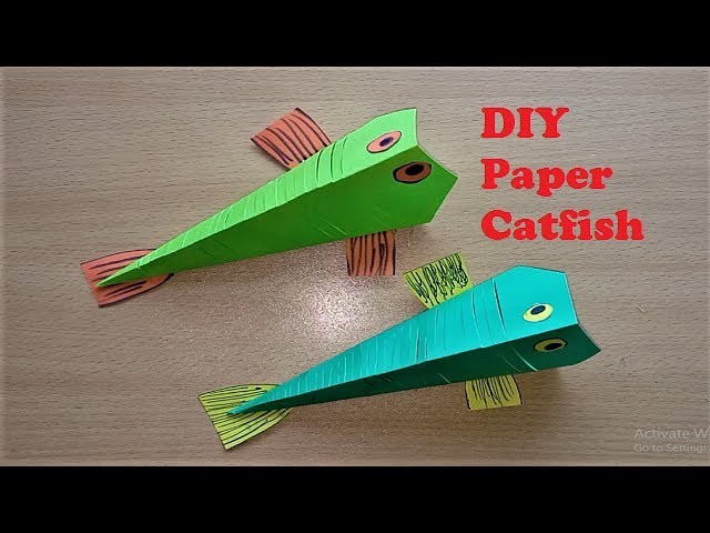 How To Make Diy Paper Catfish Step By Step Making Diy Paper Catfish