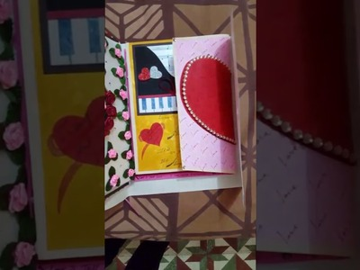 How to make greeting card for wife or husband. handmade card