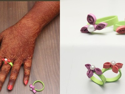 How To Make Hand Rings With Quilling Paper   DIY   Refashion Clothes - DIY Crafts