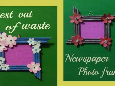 How to make handmade beautiful photo frames with newspapers