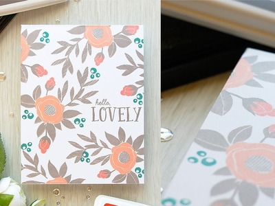 How To: One Layer Card with Yana ft. SPRING BLOOMS