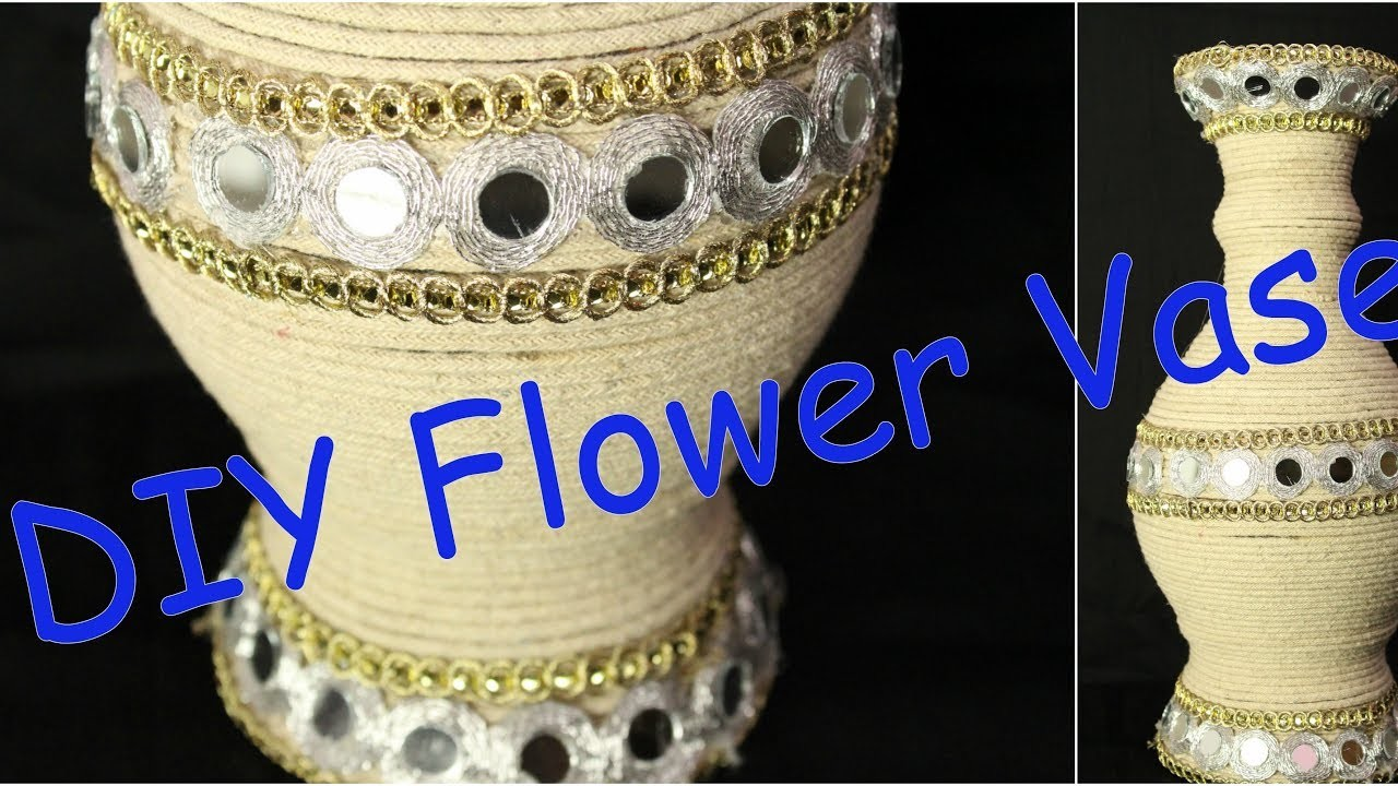 How to turn your old flower vase into new vase in just 10 min I DIY home decor I Creative Diaries