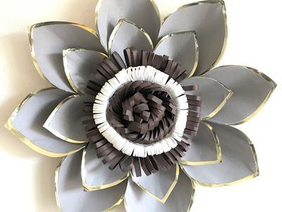 Large paper flower for interior decoration. DIY Giant paper flower.wedding decoration. Inredning