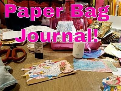 Live Stream - Pajama Party!! Paper Bag Mini Journal! Part 1