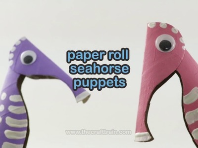 Make a paper roll seahorse puppet