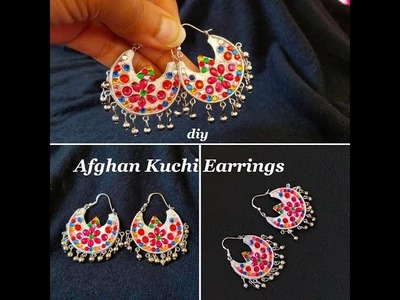 Making Afghan Kuchi Style Earrings|| Designer Chandbali Earrings||Paper Earrings||DIY