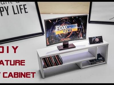 Miniature - How To Make Miniature TV Cabinet For Home Decor
