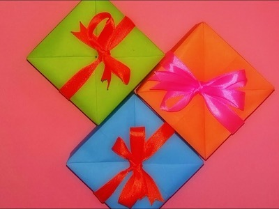 Origami Gift Box with Colour Paper