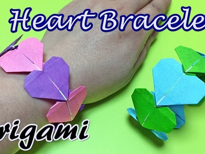 Origami Heart Bracelet Easy but Cute for girls | DIY Paper Bracelet Accessories step by step