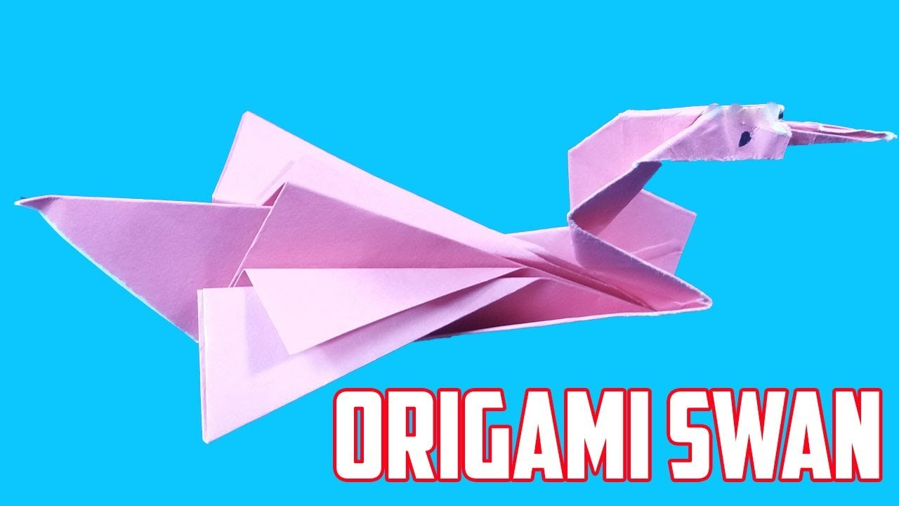 origami swan made of paper how to make an origami swan