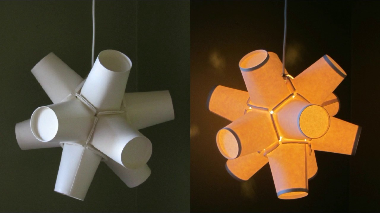 Paper cup lantern diy best out of waste project for Best out of waste paper craft
