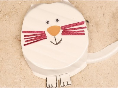 Paper plate cat | paper arts and crafts with kids