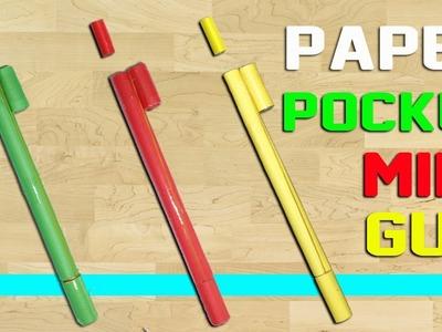 Paper Pocket Mini Gun Making That Shoots Paper Bullets || Rubber Band Powered.