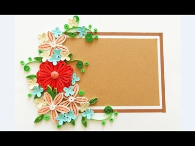 Paper quilling Flower Card Design 2. Quilling card