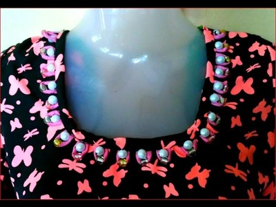Pearl neck design cutting and stitching DIY मोती गर्दन डिजाइन कट और सिलाई