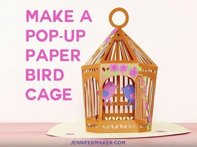 Pop-Up Paper Birdcage Card.Luminary Tutorial