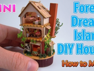 Realistic Miniature Forest Dream Island DIY House | DollHouse | No Polymer Clay!