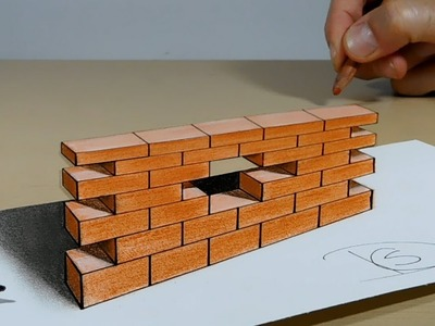 The Wall - Try to do 3D Trick Art on Paper,