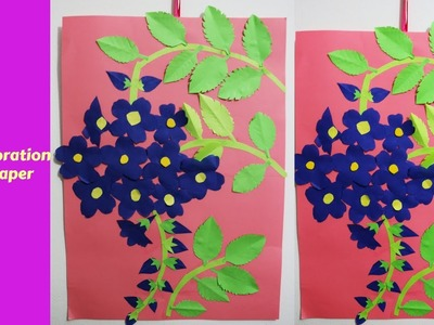 Wall Decoration With Paper Creative Ideas || how to make paper flower craft for wall decor