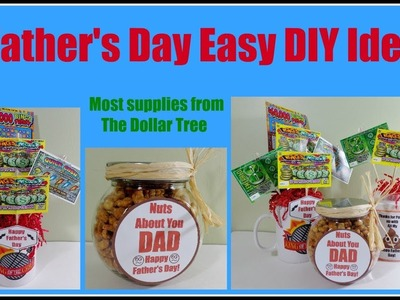 3 DIY Father's Day Ideas 10 min. projects. Dollar Tree items. Pinterest inspired
