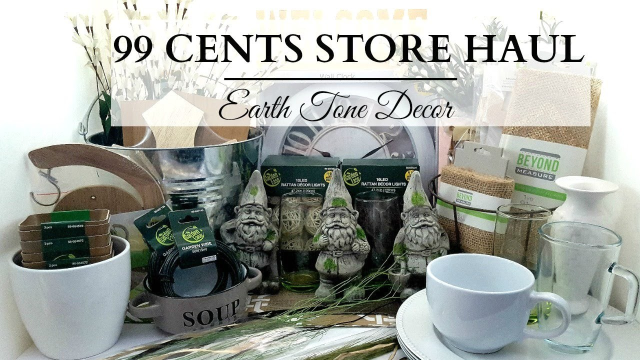 99 Cents Store Haul Earth Tone Home Decor Diy Supplies