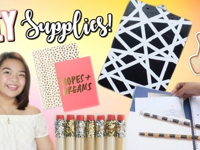 BACK TO SCHOOL DIY SUPPLIES 2017! (Philippines) Clipboard, Organizer, Pencil.Case | Jasmine Cano