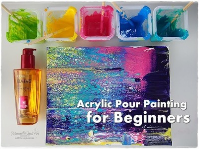 BEGINNERS Acrylic Pour Painting DIY ♡ Make Cells with Swipe Technique ♡ Maremi's Small Art ♡