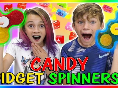 ????CANDY FIDGET SPINNERS DIY????| We Are The Davises