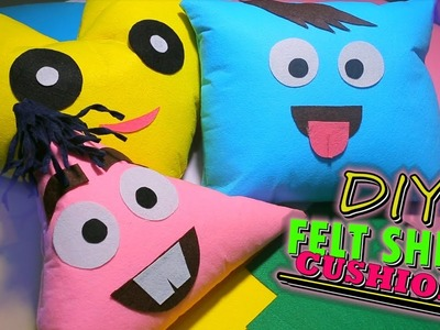 Cute character cushions without SEW & FABRIC - DIY felt cushions for your Sofa WHEN YOU'RE BORED!