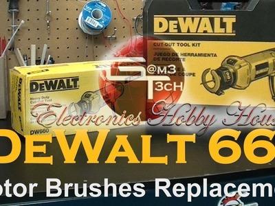 DeWalt 660 Rotary Tool Motor Brushes Replacement | How To Repair DIY