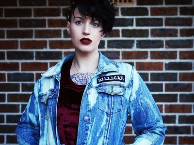 Distressed Jacket With Patches | DIY