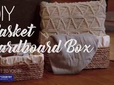 DIY a Basket from a Cardboard Box!