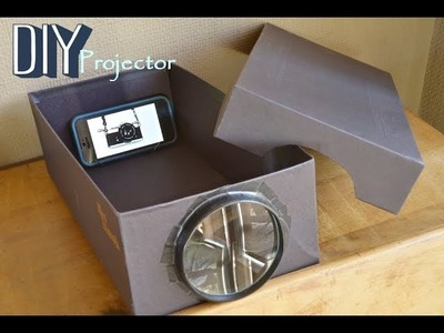 ✔DIY A Smartphone Projector With A Shoebox!!